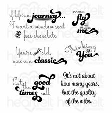 Heartfelt Creations Stamp Set ~ GOOD TIMES SENTIMENTS -3802  ~ Young At Heart