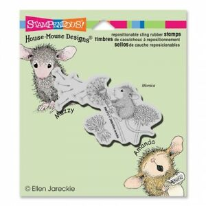 House Mouse Make A Wish Rubber Stamp