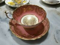 Paragon Fine Bone China Cup and Saucer Set H.M. Queen Mary Gold Gilt