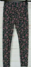 Lularoe Leggings Green with Pink Paisleys Size One Size New