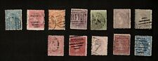 Victoria 1867-78 Mixed Lot of 13 Stamps