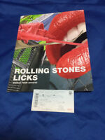 The Rolling Stones Japan tour book w/ticket stub 2002/2003 Licks World tour