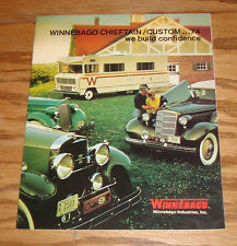 Original 1974 Winnebago Chieftain & Custom Sales Brochure 74 D-25C CL D-27C CL