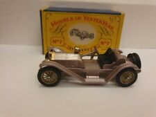 Matchbox Lesney Y-7 Models Of Yesteryear 1913 Mercer Raceabout Type 35J Boxed