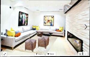 "A Superb Contemporary 7;-7"" x 13'-2"" Moroccan Area Rug $999.00"