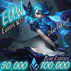 EUW League of Legends LOL 50.000❄️100.000 Blue Essence Unranked Smurf Level 30
