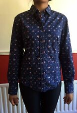 Paul Smith Flower Print Fitted Shirt In Cotton Size UK 8/ IT42