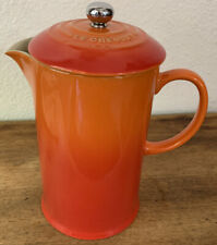 Le Creuset Cafe 27 Ounce French Press Coffee Maker / Volcano