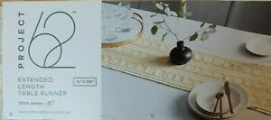 """Square Cut Table Runner - Neutral - 14"""" x 108"""" - Project 62 - NEW"""