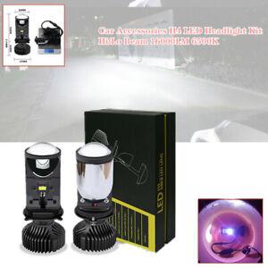 2PCS Car SUV H4 LED Headlight Kit Hi/Lo Beam 120W 16000LM 6500K Lamp Part Set
