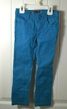 New Girl'S Youth Tommy Hilfiger Bright Blue Long Jeans Sz 4T