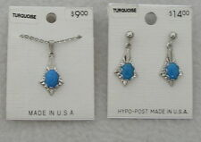 Earrings Set Pierced Hypo-post Usa New fashion jewelry Turquoise Necklace