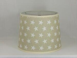 Albert Estate LTD, White Stars on Natural Linene Shade, 12 Washer