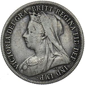 1899 SHILLING - VICTORIA BRITISH SILVER COIN - NICE