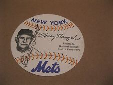 """Casey Stengel signed paper baseball reads """"New York Mets Elected Hall of Fame"""