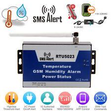 GSM Alarm SMS Alert Remote Temperature Humidity Monitoring Timer Control RTU5023