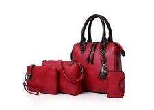New Fashion Leather Lady Handbag PU Leather Women's Bag 4pcs in One Set