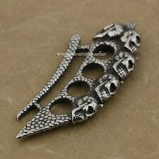 Mens stainless steel no stone chains necklaces pendants ebay cool 316l stainless steel skulls knuckle duster mens biker pendant aj05c jp mozeypictures Image collections