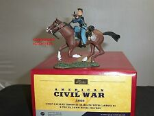 BRITAINS 31020 UNION CAVALRY TROOPER CHARGING WITH CARBINE MOUNTED TOY SOLDIER
