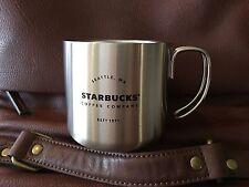 STARBUCKS Seattle Stainless Steel Camping Mug Silver 12 fl oz 2016
