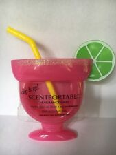 Bath And Body Works Clip And Go Scentportable Pink Margarita With Lime Glass