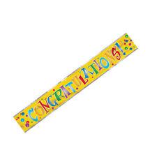 12ft Congratulations foil banner by Unique Party