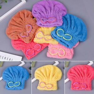 Bowknot Shower Cap Wrapped Towels Bathroom Hats Quickly Dry Hair Hat Bathing