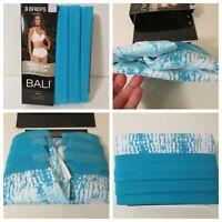 NIP BALI by HANES Size 6 M Luxe Super Soft BRIEFS Underwear Panties~3 Pairs