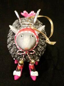 Patience Brewster Dept 56 MINI BARBARA BLACK SHEEP Ornament  Krinkles