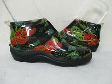 Sloggers Floral Waterproof Garden Shoes Ankle Boots Womens Size 9