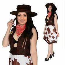 Ladies fancy dress sexy cowgirl wild west girl Size 10 12 14