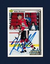 Karl Dykhuis signed Blackhawks 1992-93 Upper Deck Star Rookies hockey card