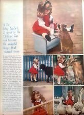 Vintage Betsy McCall Doll Non Paper Doll Page, 1961 McCalls Mag., Children's Zoo