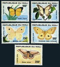 Mali 348-352,MNH.Michel 719-723. Butterflies 1979.Eurema Brigitta