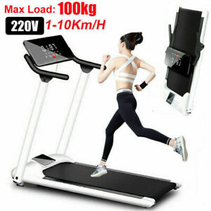 Laufband elektrisch klappbar 10 km/h LCD Display Puls Fitness Heimtrainer 100 kg
