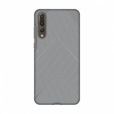 AMZER Carbon Fibre Stone Gray 4 Hard Plastic Cover Slim Printed Snap On Case