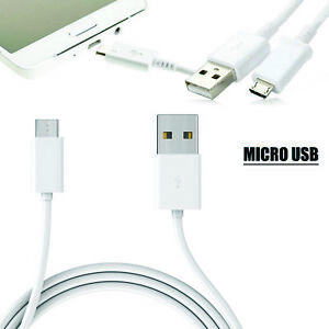 WHITE 1M MICRO USB FAST CHARGING SYNC DATA CABLE LEAD CORD WIRE FR MOBILE PHONES
