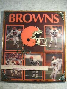 Cleveland Browns 1990 Decoupage Poster on Wood for Den Clock - Kosar, Newsome &c