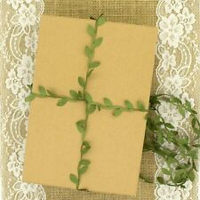 Green leaf ribbon perfect for gift wrapping or crafts LBF004