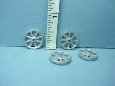 Miniature Wheels (4) Small Project - Unpainted Metal #W5