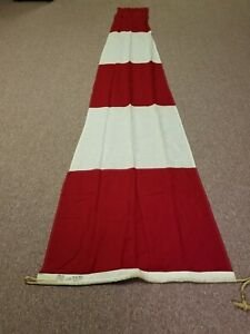 """VINTAGE nautical ship MARINE Project HOPE FLAG banner red and white  """"ANS"""""""