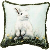 Primitives by Kathy Rabbit Accent Throw Pillow Bunny Spring Summer Farmhouse