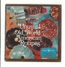 Vintage Recipe Book Cookbook NORDIC WARE Old World American Recipes Aluminum
