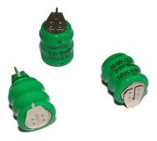 50Pcs Ni-MH Battery 3.6V 80MAH 2P Button Cell Replace for Varta 3/V80H PLC Power
