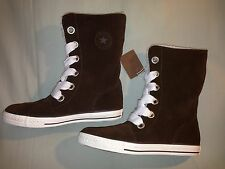 NEW CONVERSE M 5.5 W 7.5 BEVERLY LACE UP SUEDE BROWN BOOT FAUX FUR LINED
