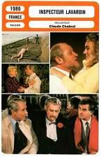 FICHE CINEMA : INSPECTEUR LAVARDIN - Poiret,Brialy,Lafont,Chabrol 1986