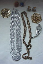 Stunning Lot 8 SARAH COV Costume JEWELRY Ring Necklace