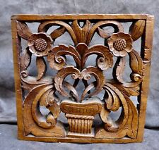 Nice Antique Spanish Colonial Mexico/Peru panel with flowers -18th 19th. century