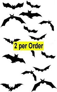 Flying Bats 2 Temporary Tattoos Waterpoof Vampire Bat Halloween Body Transfer