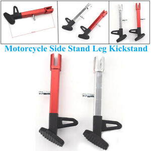 1X Universal CNC Aluminum Alloy Motorcycle Leg Prop Kickstand Single Side Stand